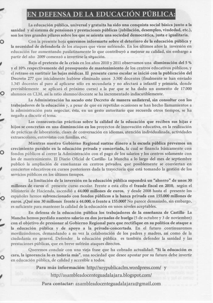 recortes en Castilla - La Mancha